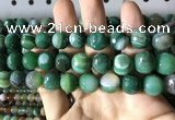 CAA2290 15.5 inches 14mm faceted round banded agate beads