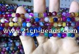 CAA2293 15.5 inches 6mm faceted round banded agate beads