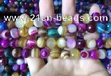CAA2296 15.5 inches 12mm faceted round banded agate beads