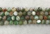CAA2305 15.5 inches 14mm round banded agate gemstone beads
