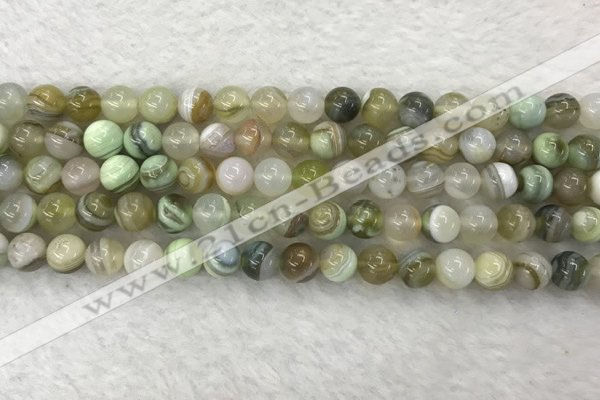 CAA2309 15.5 inches 6mm round banded agate gemstone beads