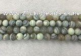 CAA2319 15.5 inches 10mm round banded agate gemstone beads