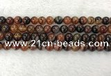 CAA2321 15.5 inches 10mm round banded agate gemstone beads