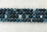 CAA2325 15.5 inches 10mm round banded agate gemstone beads
