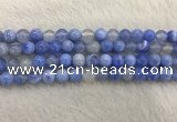 CAA2334 15.5 inches 10mm round banded agate gemstone beads