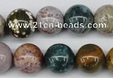 CAA234 15.5 inches 16mm round ocean agate gemstone beads wholesale
