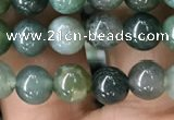 CAA2357 15.5 inches 6mm round moss agate beads wholesale