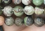 CAA2385 15.5 inches 6mm faceted round ocean agate beads wholesale