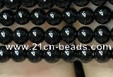 CAA2401 15.5 inches 3mm round black agate beads wholesale