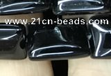 CAA2567 15.5 inches 12*16mm rectangle black agate beads wholesale