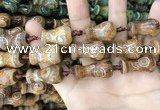 CAA2677 15.5 inches 15*23mm - 16*28mm vase-shaped tibetan agate dzi beads