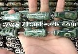 CAA2700 15.5 inches 14*38mm - 16*43mm teardrop tibetan agate dzi beads