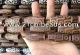 CAA2702 15.5 inches 14*38mm - 16*43mm rice tibetan agate dzi beads