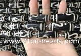 CAA2719 15.5 inches 14*38mm - 16*43mm rice tibetan agate dzi beads