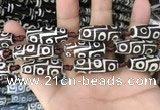 CAA2728 15.5 inches 10*28mm - 11*30mm rice tibetan agate dzi beads