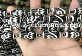 CAA2729 15.5 inches 10*24mm - 11*25mm rice tibetan agate dzi beads