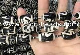 CAA2735 15.5 inches 14*21mm - 16*22mm drum tibetan agate dzi beads