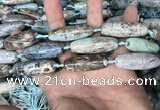CAA2755 15.5 inches 12*38mm - 14*40mm rice agate beads wholesale