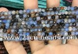 CAA2800 15 inches 4mm faceted round fire crackle agate beads wholesale