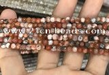 CAA2804 15 inches 4mm faceted round fire crackle agate beads wholesale