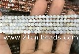 CAA2805 15 inches 4mm faceted round fire crackle agate beads wholesale