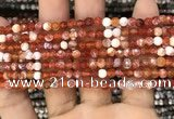CAA2808 15 inches 4mm faceted round fire crackle agate beads wholesale