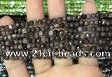 CAA2816 15 inches 4mm faceted round fire crackle agate beads wholesale