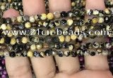 CAA2825 15 inches 4mm faceted round fire crackle agate beads wholesale