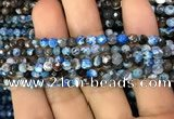 CAA2827 15 inches 4mm faceted round fire crackle agate beads wholesale