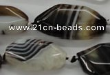 CAA283 15.5 inches 18*30mm freeform black line agate beads