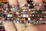 CAA2830 15 inches 4mm faceted round fire crackle agate beads wholesale