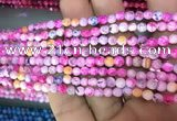 CAA2833 15 inches 4mm faceted round fire crackle agate beads wholesale