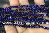 CAA2835 15 inches 4mm faceted round fire crackle agate beads wholesale