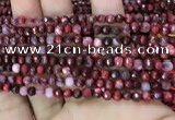 CAA2839 15 inches 4mm faceted round fire crackle agate beads wholesale