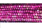CAA2884 15 inches 6mm faceted round fire crackle agate beads wholesale