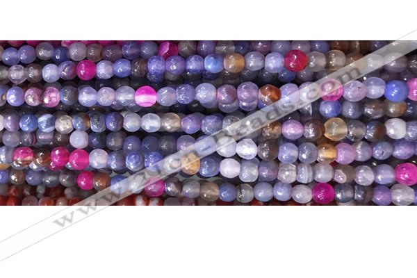 CAA2885 15 inches 6mm faceted round fire crackle agate beads wholesale