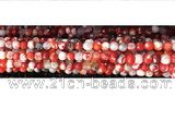 CAA2886 15 inches 6mm faceted round fire crackle agate beads wholesale