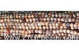 CAA2889 15 inches 6mm faceted round fire crackle agate beads wholesale