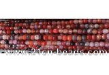 CAA2890 15 inches 6mm faceted round fire crackle agate beads wholesale