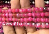 CAA2912 15 inches 6mm faceted round fire crackle agate beads wholesale