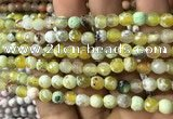 CAA2919 15 inches 6mm faceted round fire crackle agate beads wholesale