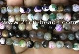 CAA2924 15 inches 6mm faceted round fire crackle agate beads wholesale