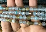 CAA2927 15 inches 6mm faceted round fire crackle agate beads wholesale