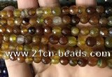 CAA2928 15 inches 6mm faceted round fire crackle agate beads wholesale