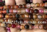 CAA2933 15 inches 6mm faceted round fire crackle agate beads wholesale