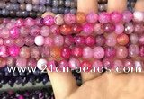 CAA2961 15 inches 8mm faceted round fire crackle agate beads wholesale