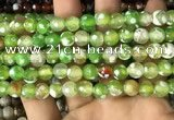 CAA2977 15 inches 8mm faceted round fire crackle agate beads wholesale