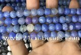 CAA2980 15 inches 8mm faceted round fire crackle agate beads wholesale