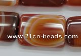CAA300 15.5 inches 23*30mm rectangle red line agate gemstone beads