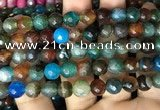 CAA3002 15 inches 8mm faceted round fire crackle agate beads wholesale